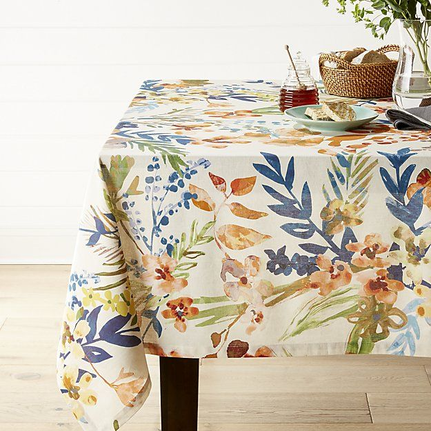 Artiste Multi Tablecloth Crate And Barrel Crate And Barrel