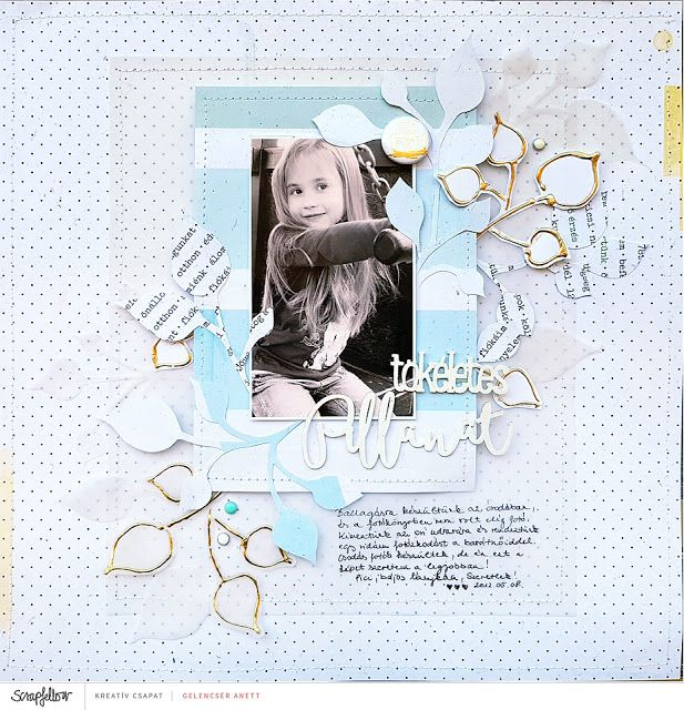 Tökéletes pillanat scrapbook layout + process video