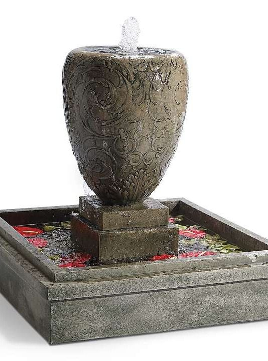 Add classic style and relaxing sounds to your outdoor space with the Arabesque Outdoor Fountain; a stunningly detailed piece that will quickly become the focal point of your space.