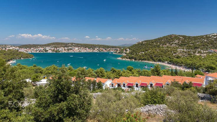 View of Tisno, Murter Island, Dalmatia, Croatia