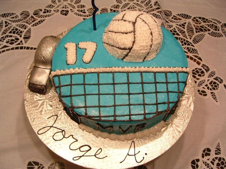 Volleyball Birthday Cake  on Cake Central