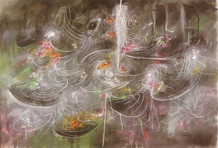 wings of light by Roberto Matta, 1984