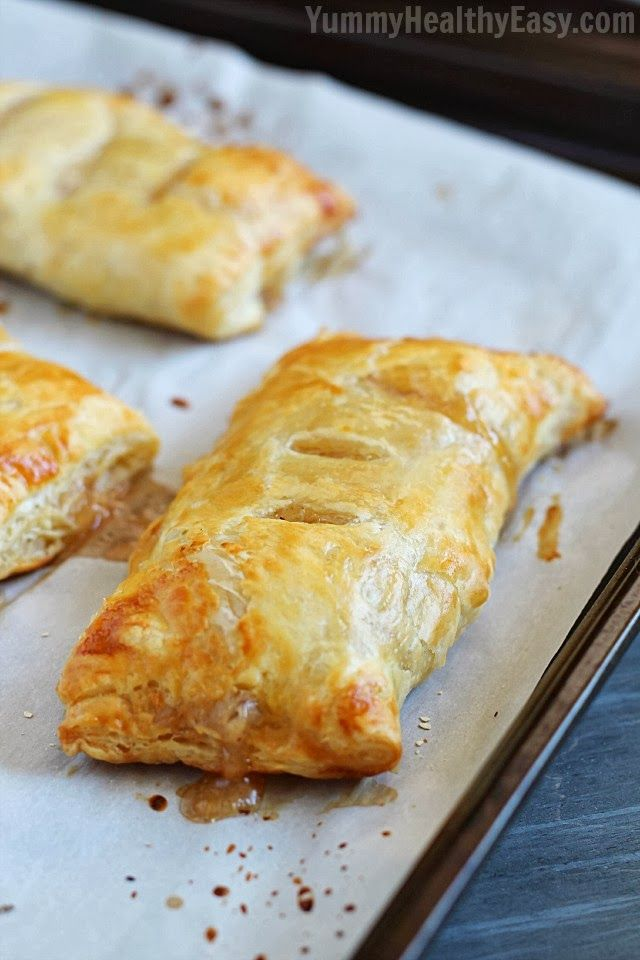 A Pinner said...Apple Hand Pies - flaky puff pastry squares filled with homemade (easy) apple pie filling. They're a simpler alternative to apple pie that you can hold in your hand!
