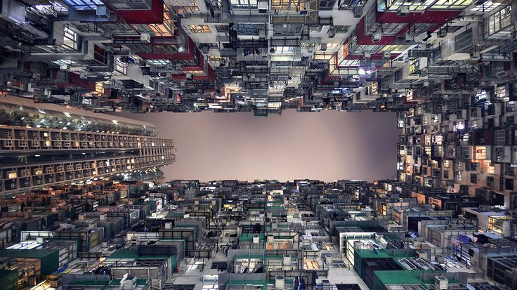 El fotógrafo francés Romain Jacquet-Lagrèze, impresionado por la vorágine de Hong Kong, publicó un libro llamado Horizonte vertical