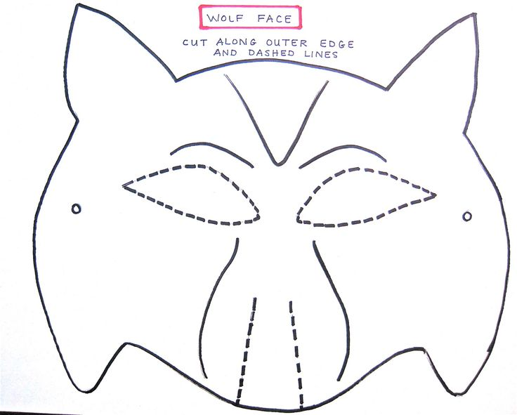 wolf mask template for preschoolers
