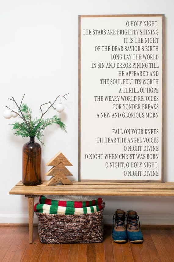 O Holy Night Sign from BetweenYouAndMeSigns on etsy
