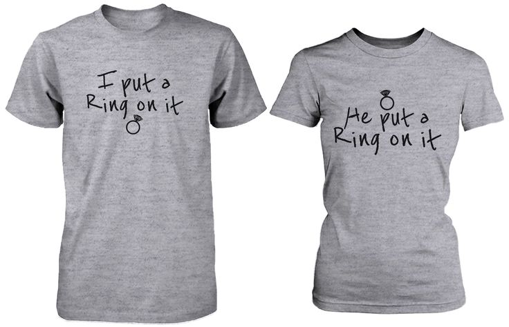 Ring On It Couple Tee His and Hers Wedding Shirts Engagement Matching