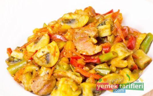 Sebzeli Tavuk Tarifi sebzeli tavuk tarifi,yemek tarifleri,tavuk yemekleri,sebzeli tavuk nasıl yapılır,chicken with vegetables,recipes http://renkliyemektarifleri.com/category/yemek-tarifleri