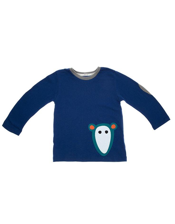 Camiseta com manga longa com cotoveleira Azul  http://www.minime.com.br/blusa-com-manga-longa-1067.aspx/p