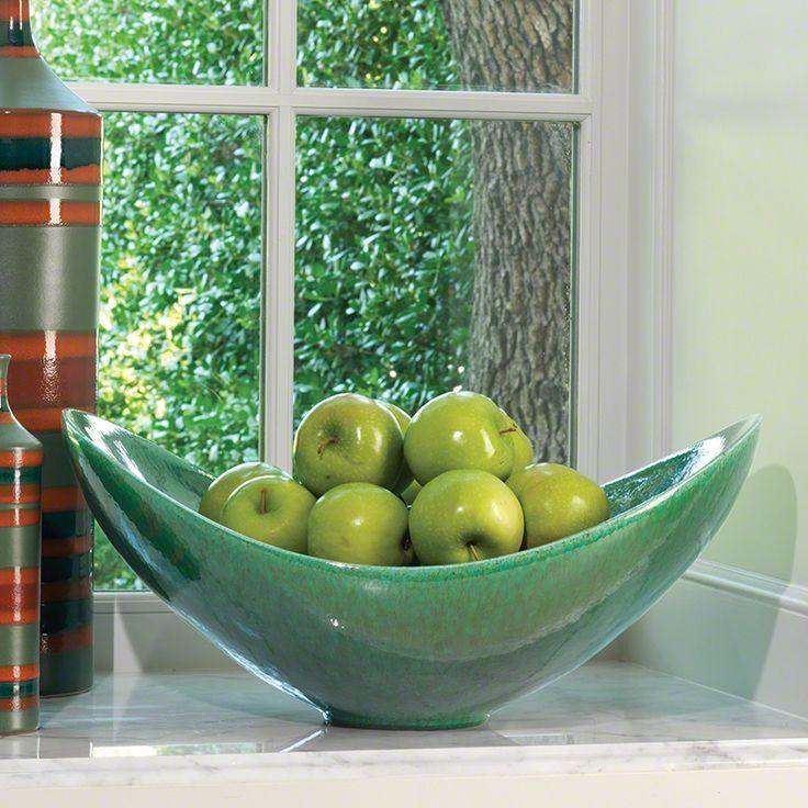 emerald swoop bowl contemporary decorative bowlshome decor accessoriesdecorative