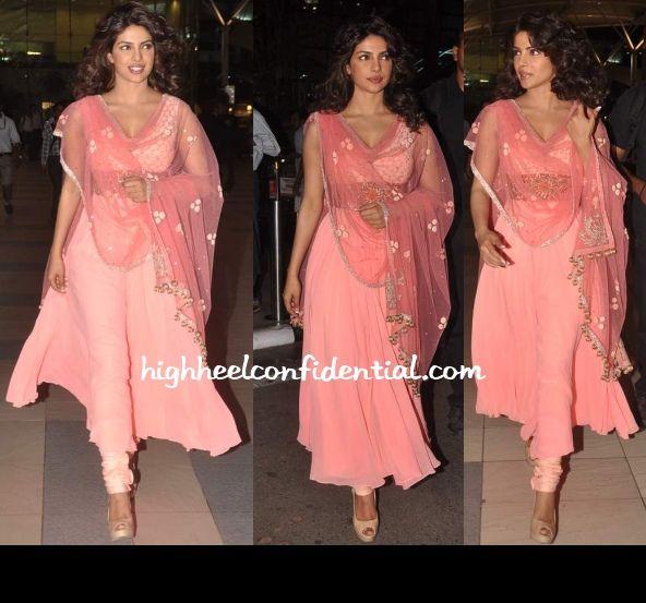 @PriyankaChopra & @ManishMalhotra1 Rose Pink #Divalicious