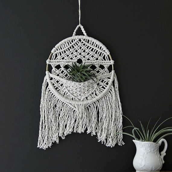round macrame wall hanger with pocket macrame wall on wall hanger id=42565