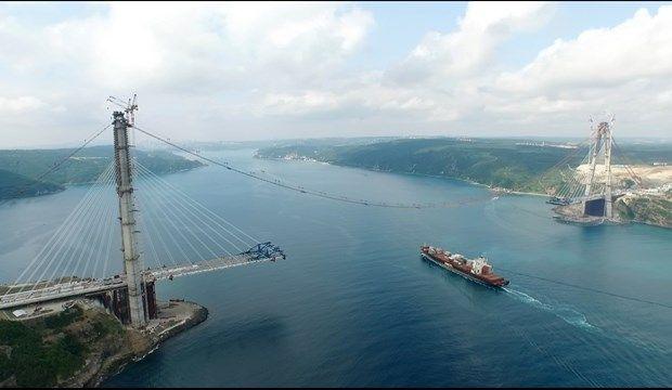 Üçüncü Boğaziçi köprüsünde ilk asfalt (Foto Haber) | Ntv.com.tr