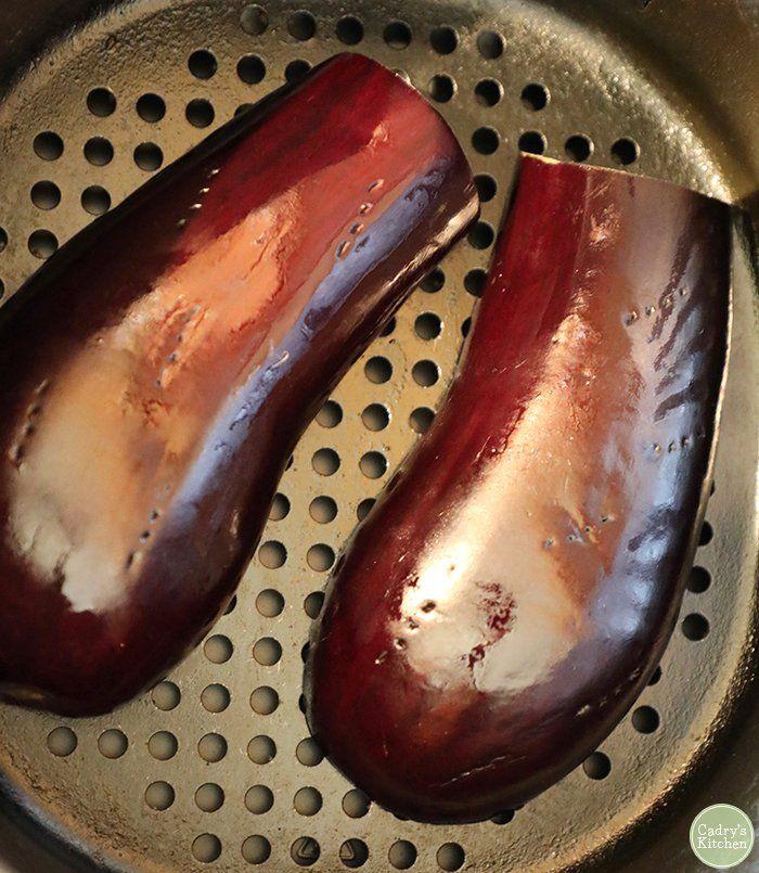 Air fryer eggplant dip (Vegan baba ganoush Recipe Air