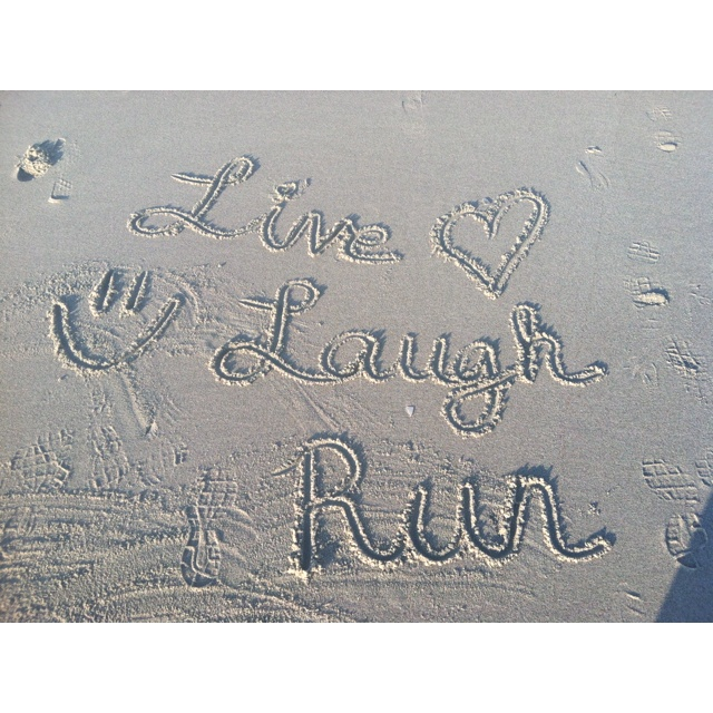 "Beach run <3...next ""me day"" I do think I will take in a beach run....it's been ages and probably won't make it far but peace I will feel :)"