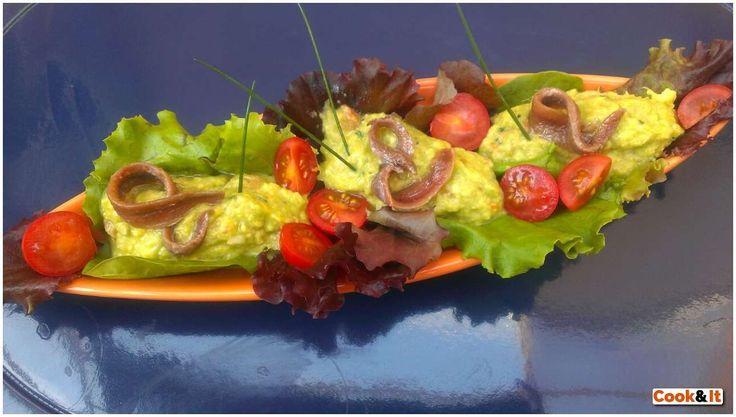 Esta es nuestra primera receta, la reina del Cantábrico acompañada de guacamole, ¡está espectacular!