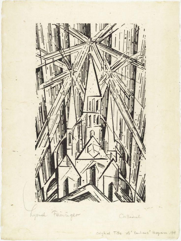 Lyonel Feininger. Cathedral (Kathedrale) for Program of the State Bauhaus in Weimar (Programm des Staatlichen Bauhauses in Weimar). 1919