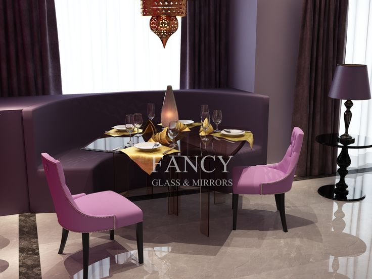 This stunning Polaris Dining Table will impress you with its elegant simplicity. It has square-like shaped glass table top with beveled polishing on the edges and cross pedestal base. All parts are made of top quality thick tempered glass and look superb. It is solid, sturdy and very eye catching. You can pair it with any chairs and base is designed the way that allows enough space for legs.