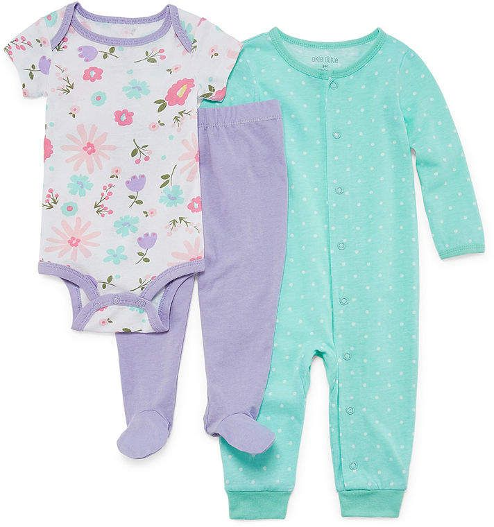 Okie Dokie 3 Pc Bodysuit Set Baby Girls Toddler Outfits Kids Outfits Baby Pajamas