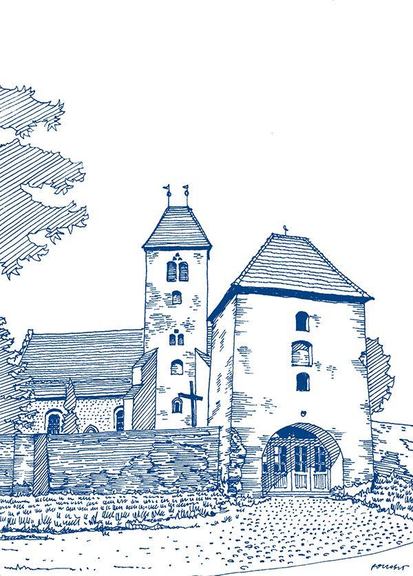 Seria rysunków odręcznych polskich regionów wykonanych dla nowych oddziałów PZU. Series of hand-made drawings of polish regions made for PZU Insurance.