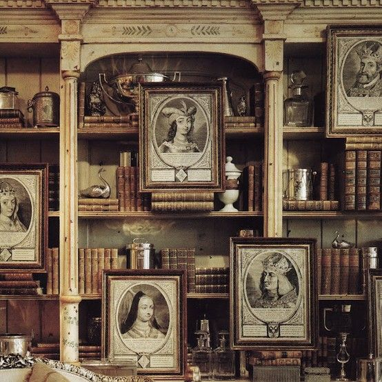 I love the framings and how they are situated in various ways among the books via:..focus..damn it!