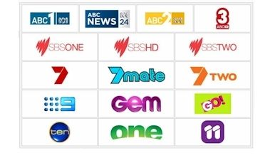 Receive all these channels when travelling Australia.