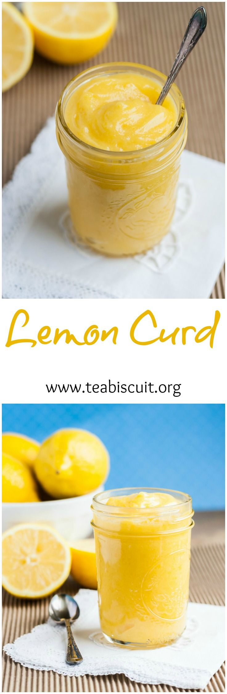 Quick and Easy recipe for Lemon Curd that can be made dairy free or with butter | https://www.teabiscuit.org
