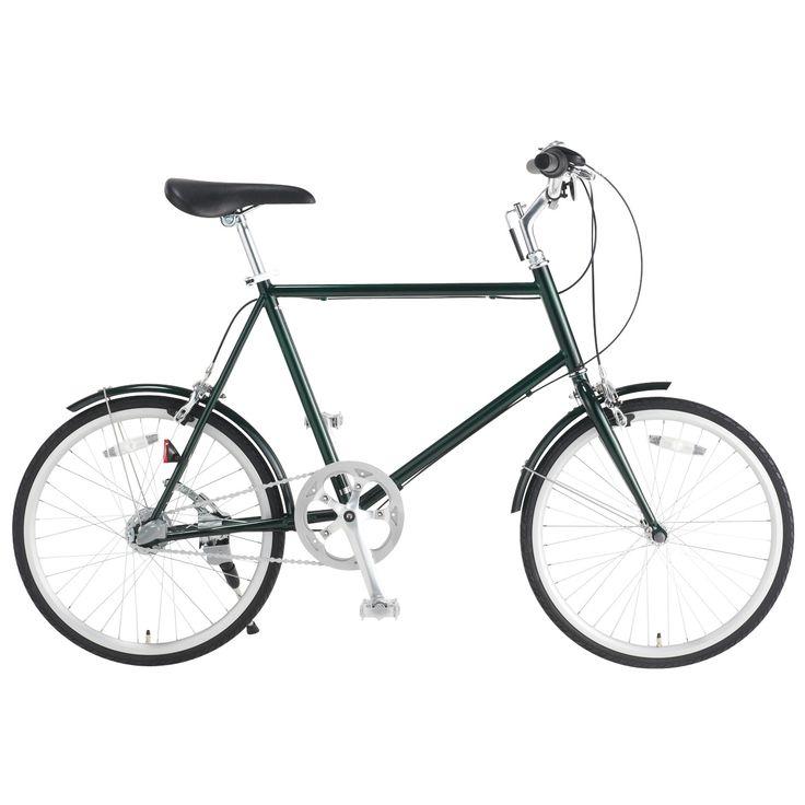 20型クロモリ自転車コンパクトタイプ グリーン・内装3段泥除け付き | 無印良品ネットストア