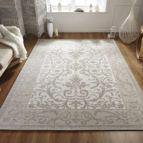 Patterned with elegant damask designs in tranquil natural tones, this…