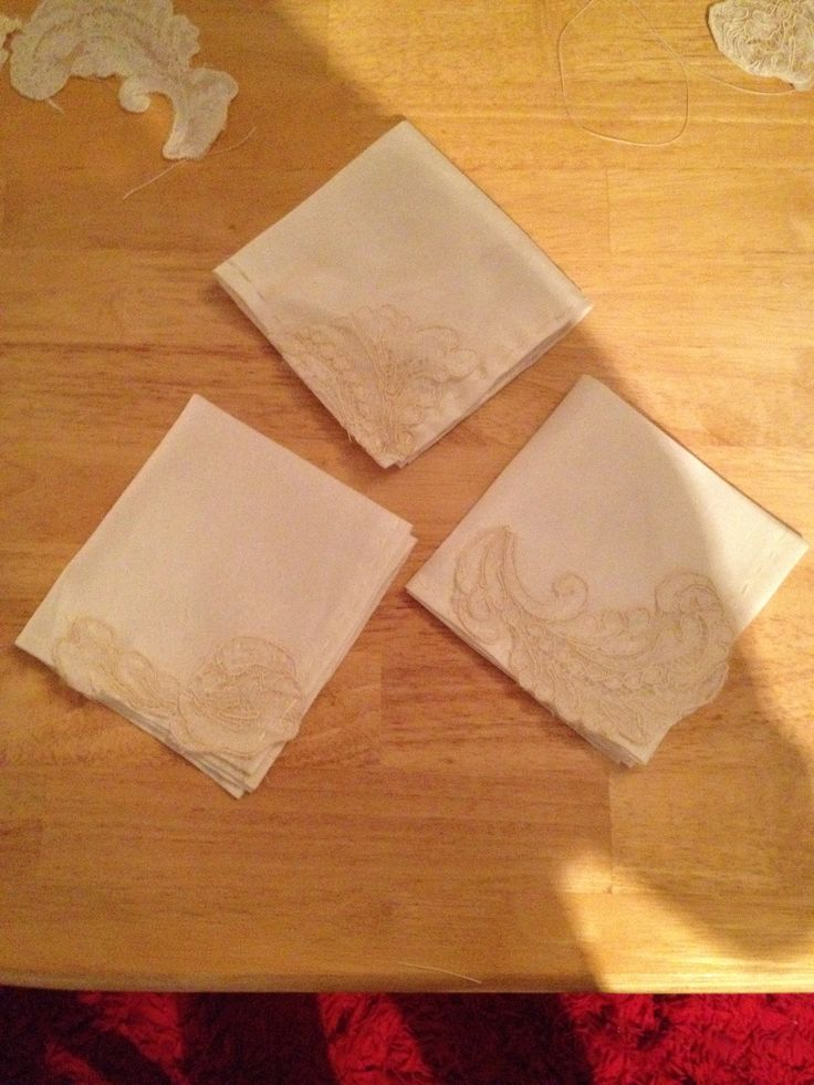Handkerchiefs  from moms old wedding dress
