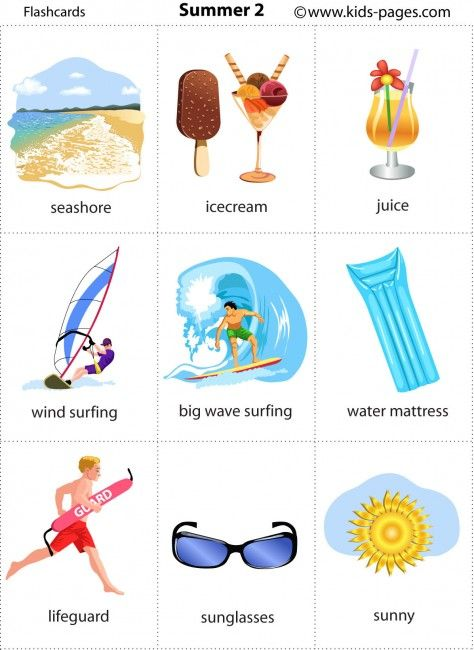 Summer 2 http://www.kids-pages.com/folders/flashcards/At_the_Beach_2/summer%202.pdf