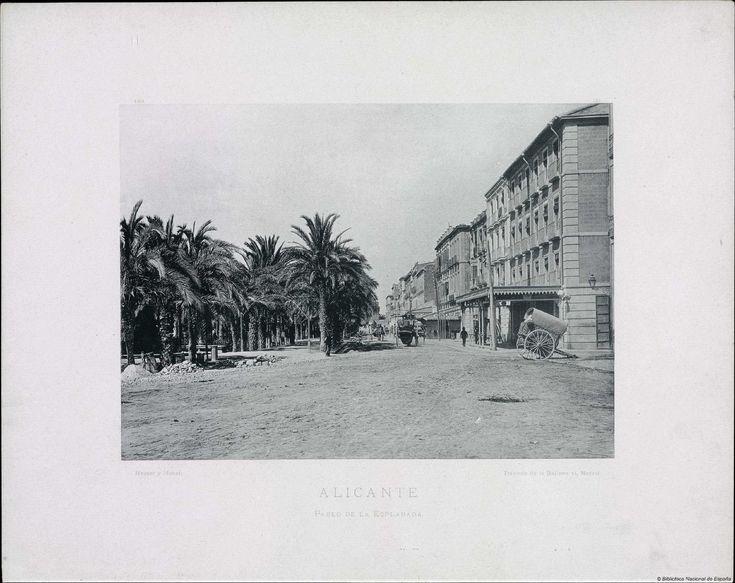 Alicante, Paseo de la Esplanada  1892 Biblioteca Nacional de España