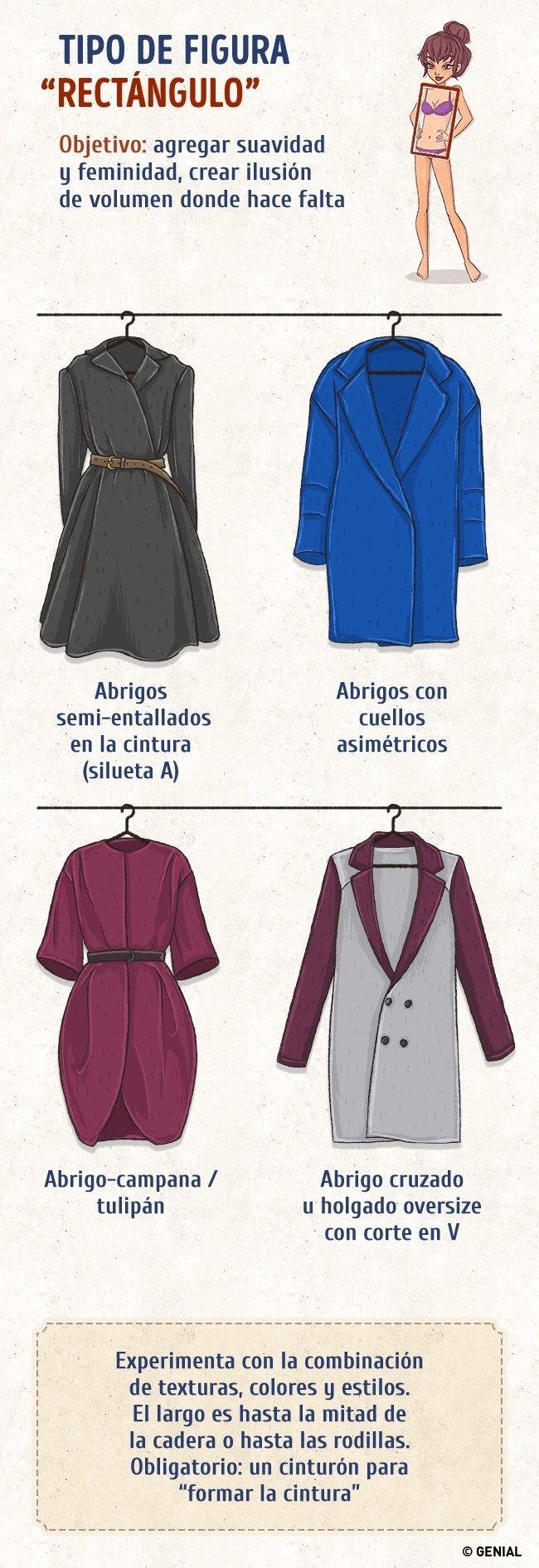 Esta guía te ayudará a elegir el abrigo perfecto para tu figura