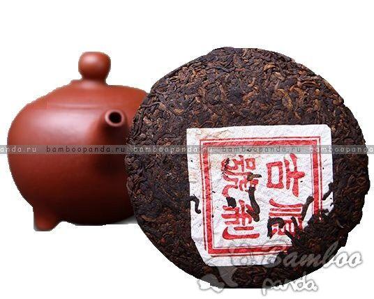 Чай Пуэр Мао Ча, 5-летний прессованный чай в форме блина