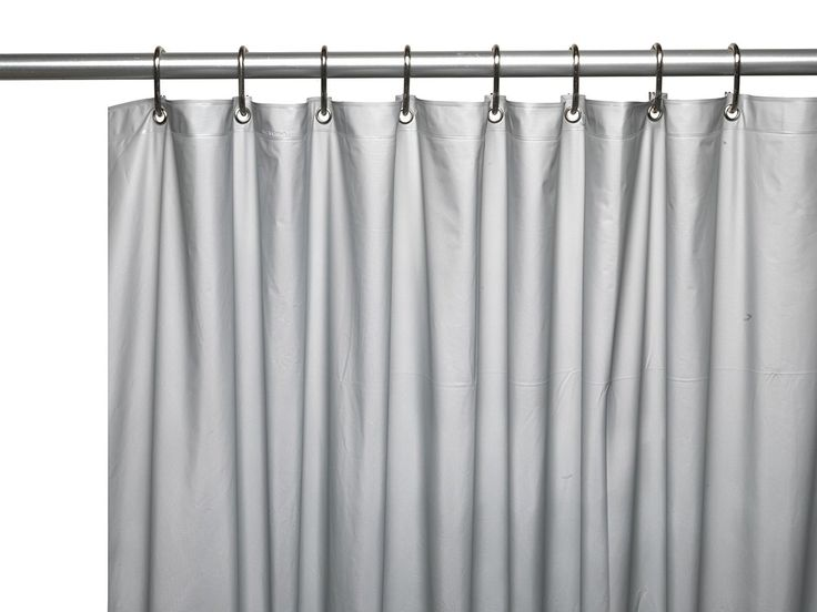 "Royal Bath Heavy 3 Gauge Vinyl Shower Curtain Liner with Weighted Magnets and Metal Grommets (72"" x 72"") - Silver"