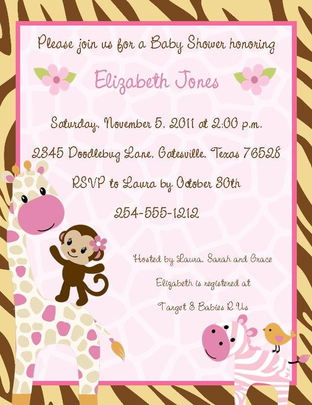 9 best jungle jill images on pinterest baby showers baby girl 24 jungle jill monkey safari baby shower invitations in home garden holidays cards party supply party supplies stopboris Image collections
