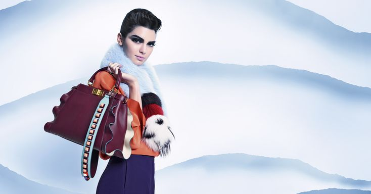 The Fendi Fall/Winter 2016-2017 features icy blues and whites that allow the colors and prints of this vibrant collection to truly stand out. Shot by the legendary Karl Lagerfeld and modeled by Kendall Jenner.