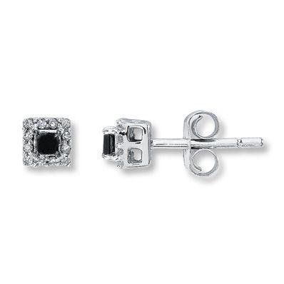 10K White Gold ¼ Carat t.w. Diamond Earrings