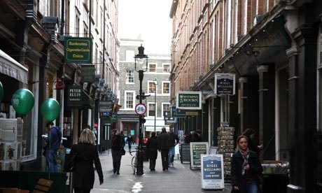 Cecil Court, a Victorian thoroughfare in London http://www.guardian.co.uk/travel/2011/dec/09/best-cities-world-shopping
