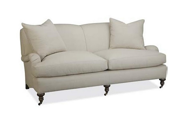 Lee Industries english roll armed sofa...Actually own this in a slipcovered version...love it!