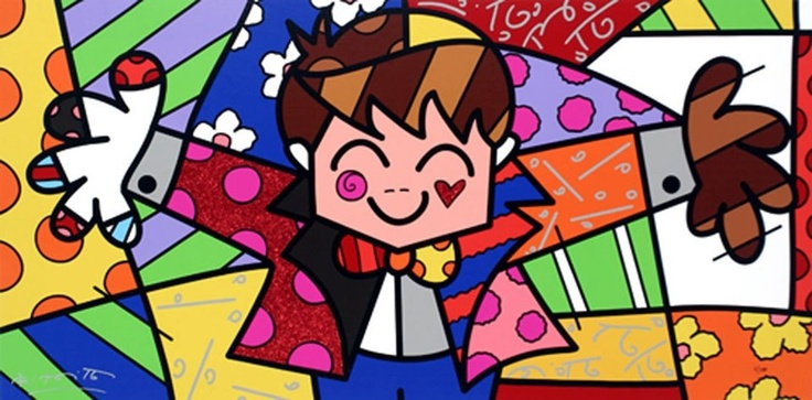 The Hug by Romero Brito