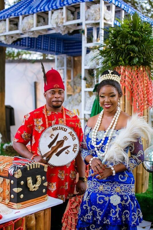 Nigerian Traditional wedding cake by Dripples Cakes