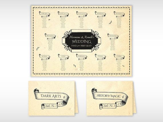Harry Potter bruiloft Marauders kaart van ChameleonWeddings op Etsy