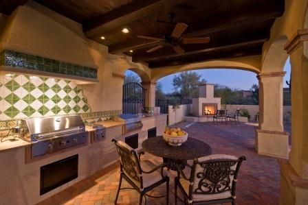 34 best gbaker remodel images on pinterest for Spanish style outdoor kitchen