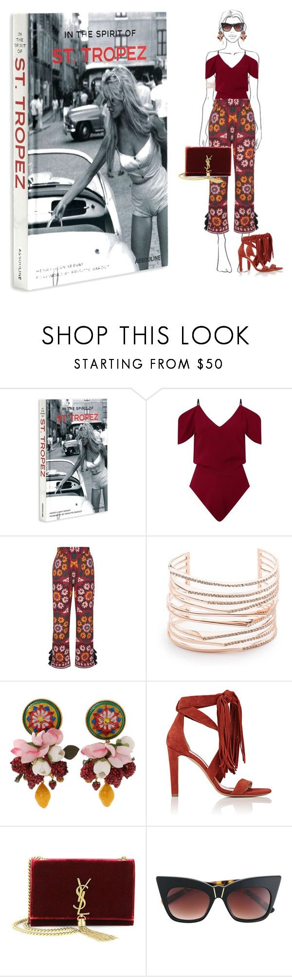 """Saint Tropez Travel Outfit"" by salbiylaazzara-fashion on Polyvore featuring Assouline Publishing, Roland Mouret, Alexis Bittar, Dolce&Gabbana, Chloé, Yves Saint Laurent, Pared, sainttropez and outfitsfortravel"