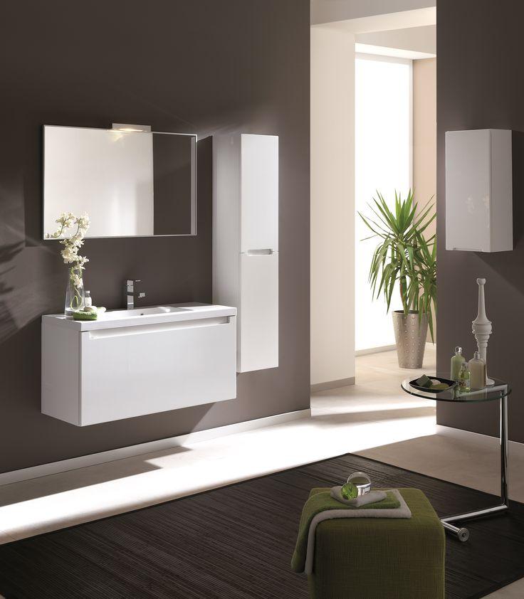 Serenity 100 1S white. #elita #meble #lazienka #serenity #furniture #bathroom