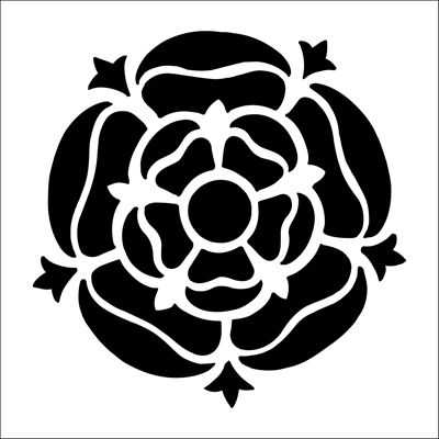 Tudor Rose Solo stencil from The Stencil Library BUDGET STENCILS range. Buy stencils online. Stencil code CS86.