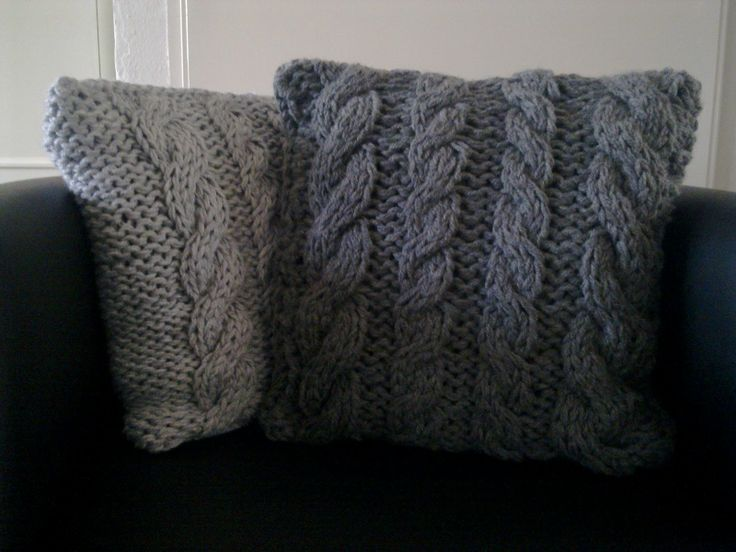 Four cables pillow - saved pattern in documents file