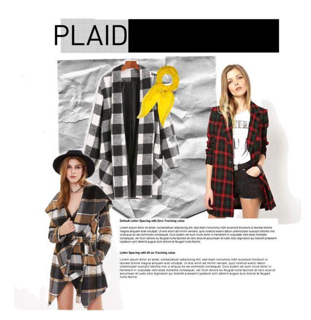 """Plaid"" by bukalemunn on Polyvore featuring moda, WithChic ve Hermès"
