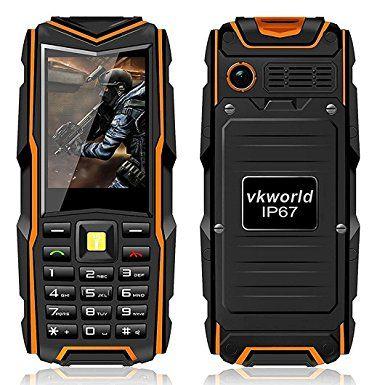 VKworld Handy Wasserdicht Outdoor 2016 für Senioren Dual SIM Staubdicht Stoßfest Ohne Vertrag Große Tasten Simlockfrei Smartphone mit Kamera Taschenlampe, für Tauchen: Amazon.de: Elektronik